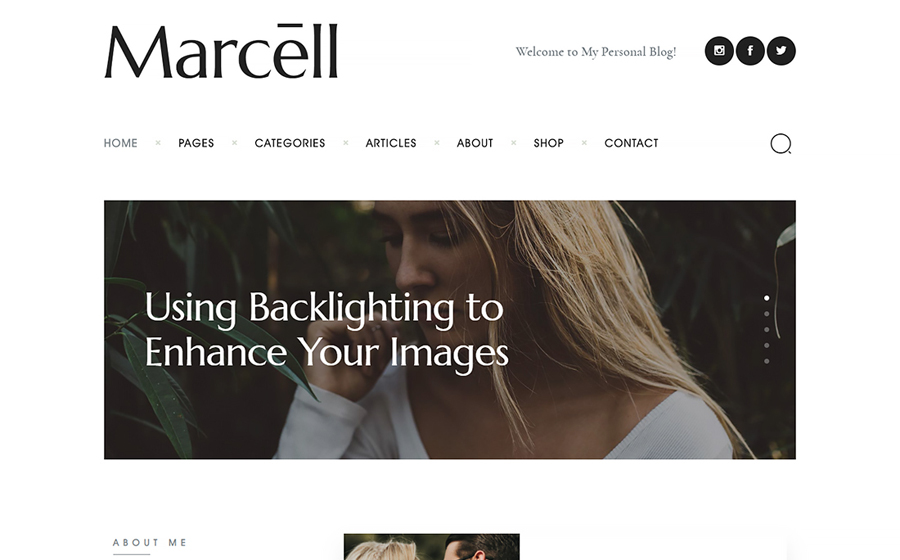 Marcell | Minimal Personal Blog & Magazine WordPress Theme
