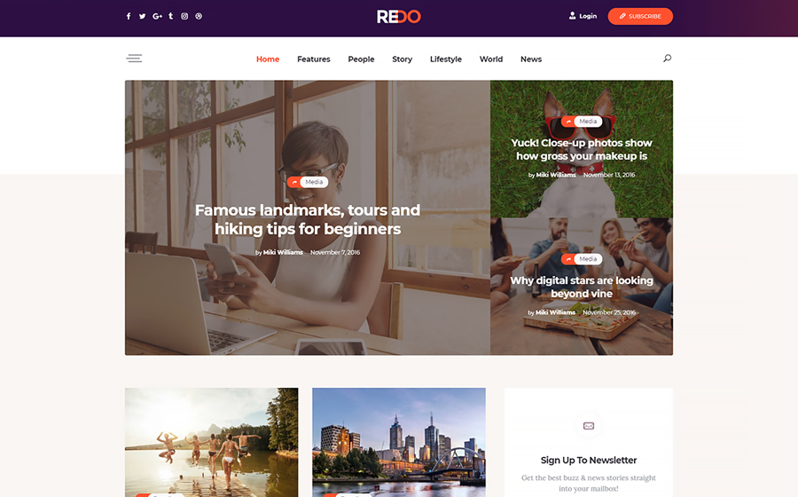 Redo | A Personal Blog, Magazine & Review Portal WordPress Themee