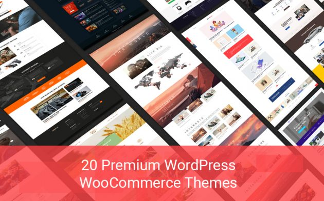 20 Premium WordPress WooCommerce Themes