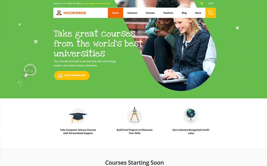 Hogwords | Education Center WordPress Theme