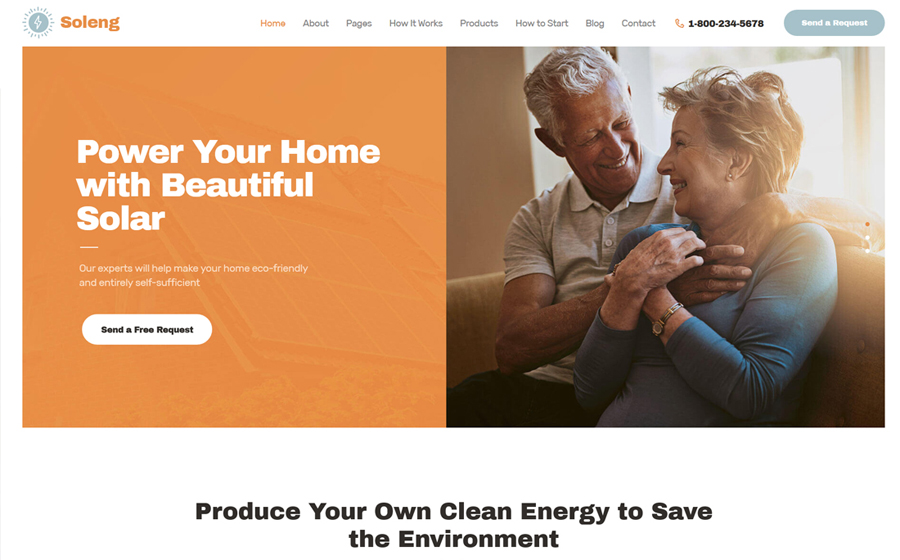 Soleng | A Solar Energy Company WordPress Theme