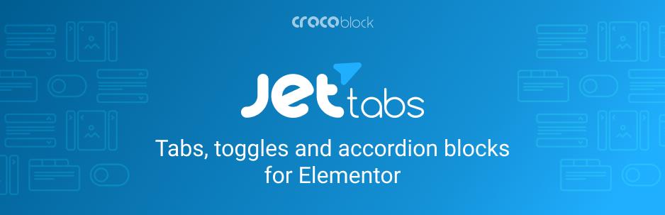 The JetTabs Elementor plugin.