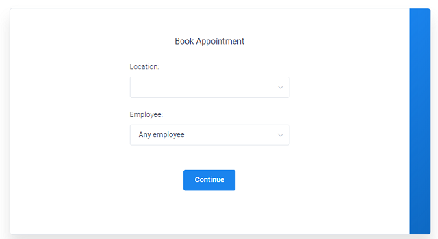 Amelia booking form