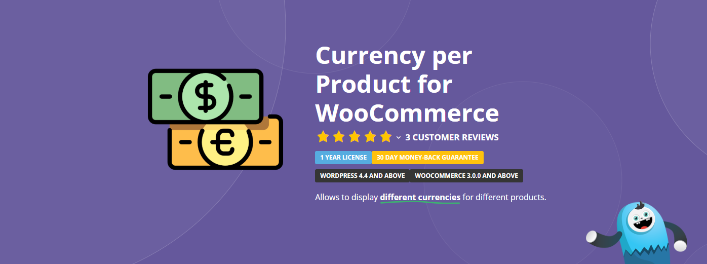 The Currency per Product for WooCommerce plugin.