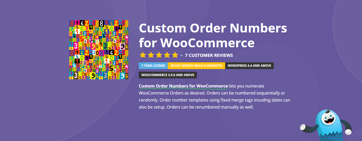The Custom Order Numbers for WooCommerce plugin.