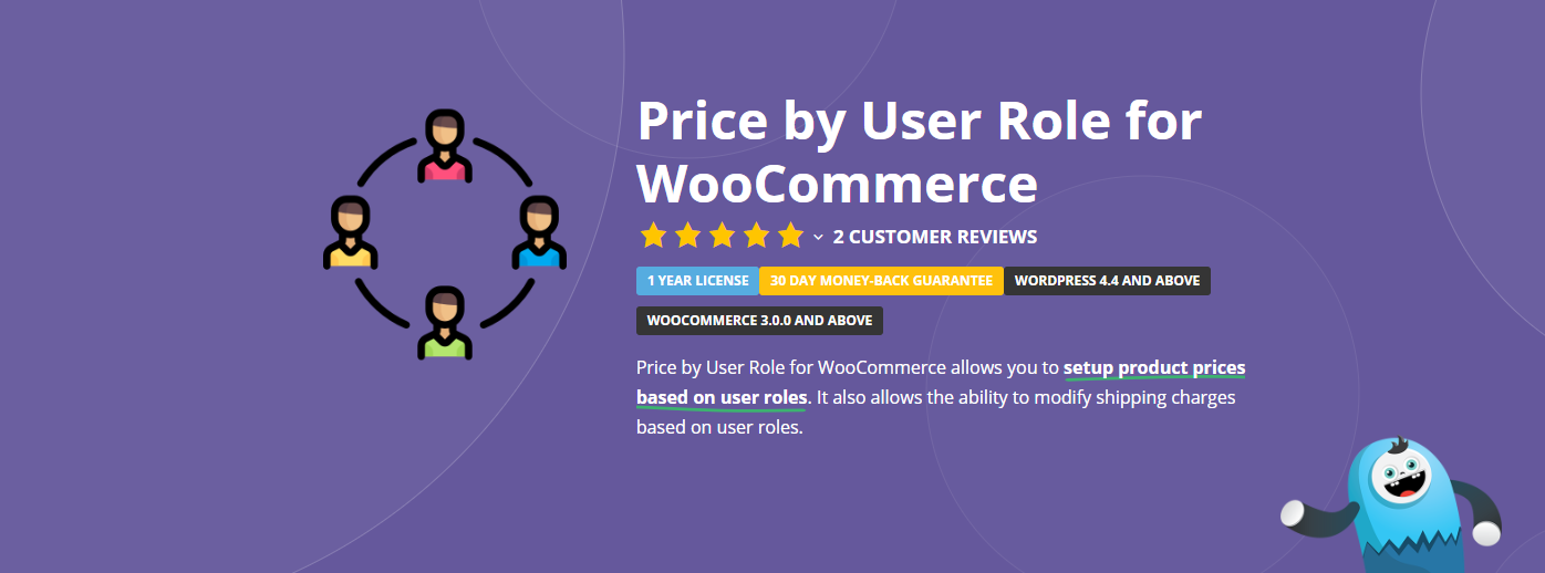 The Price by User Role for WooCommerce plugin.