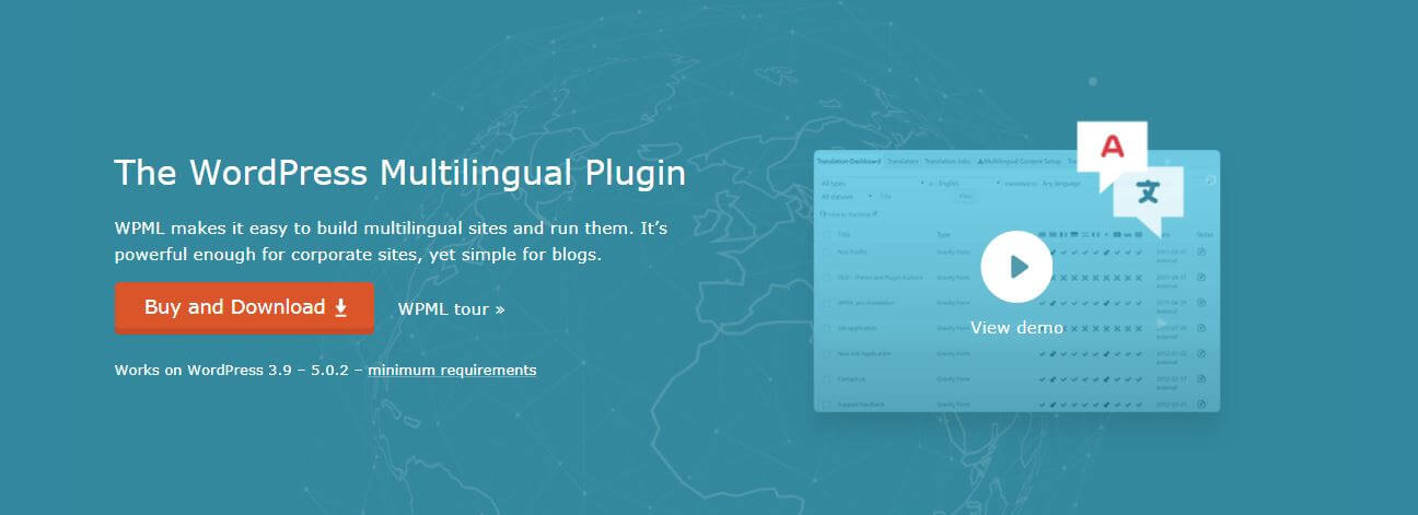 The WPML plugin website.