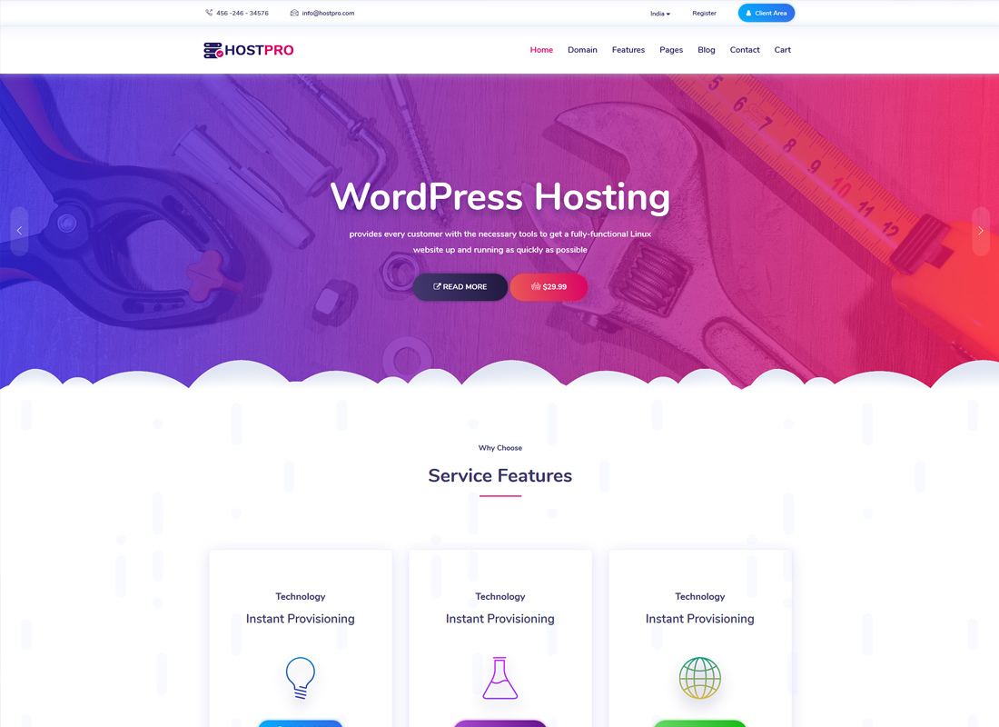 Hostpro | Responsive Hosting WordPress Theme