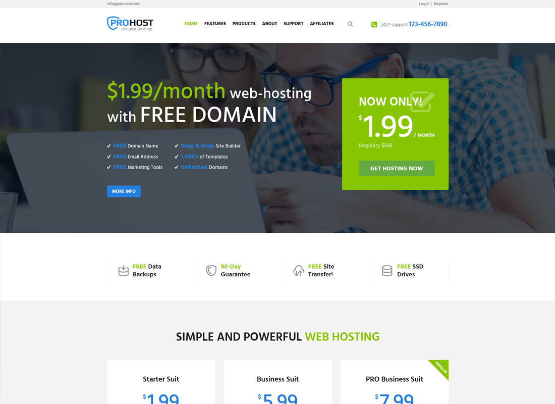 ProHost | A Trendy Hosting & Technology WordPress Theme