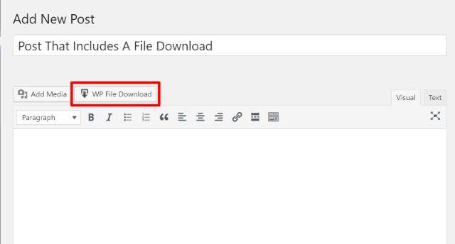 wp file download classic editor