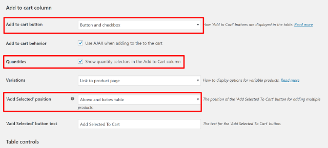 Configure add to cart functionality