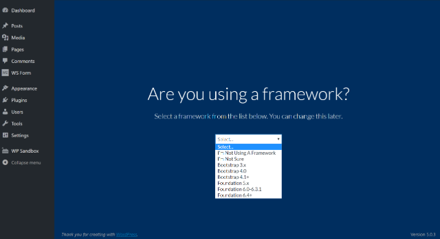 choose framework