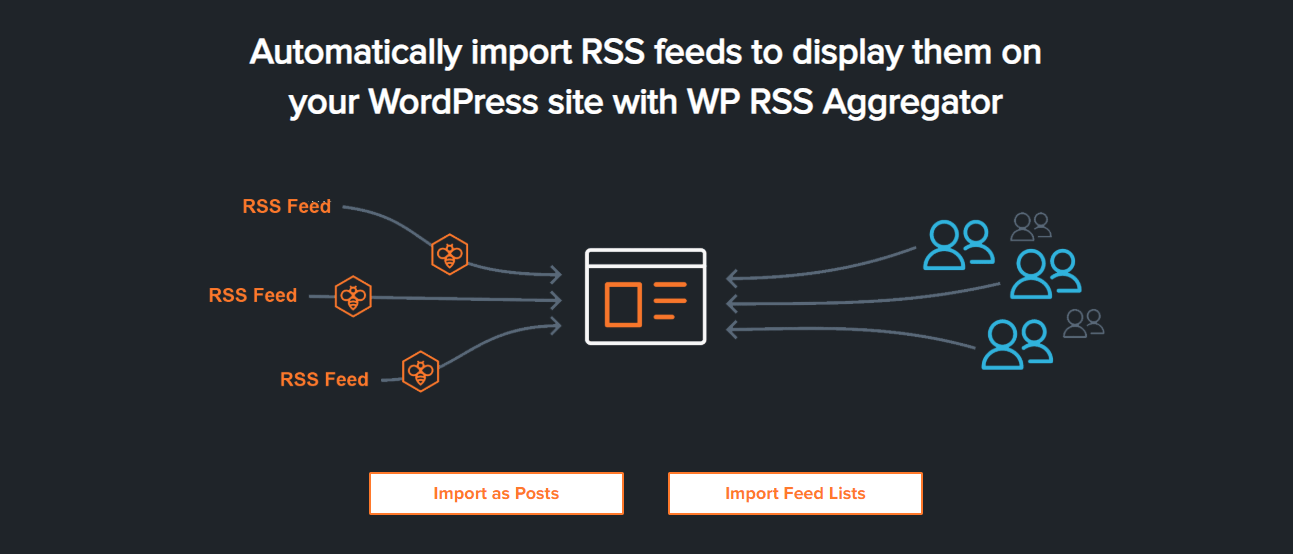 The WP RSS Aggregator plugin.
