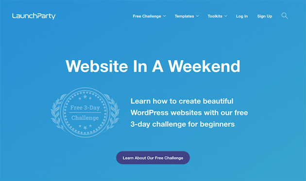LaunchParty: Website in a weekend