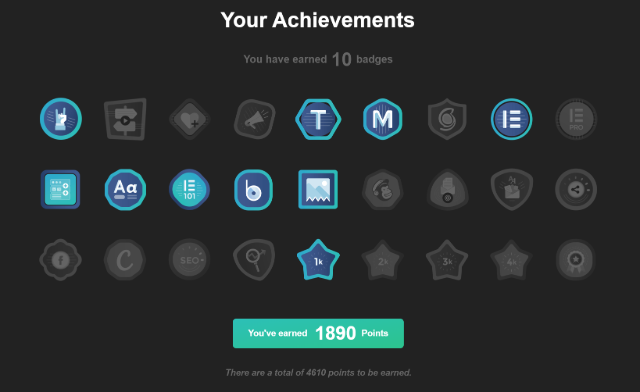 Achivement badges