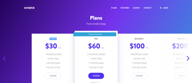 Managed WordPress Hosting Compared kinsta pricing