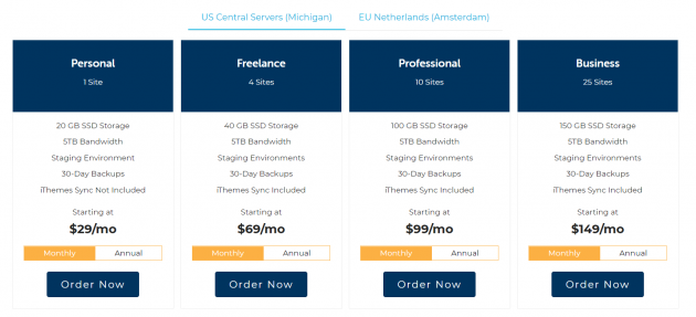 Managed WordPress Hosting Compared liquid web pricing
