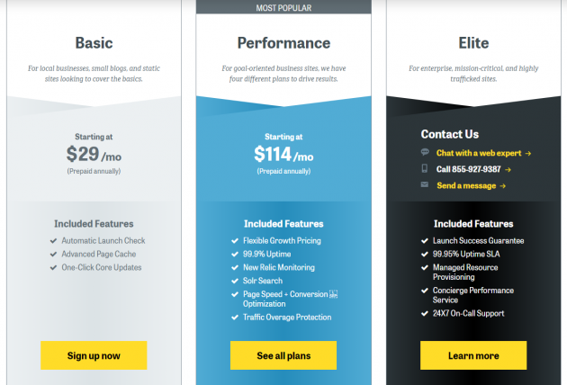 Managed WordPress Hosting Compared pantheon pricing