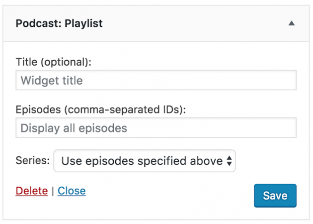 seriously simple podcasting plugin playlist feature