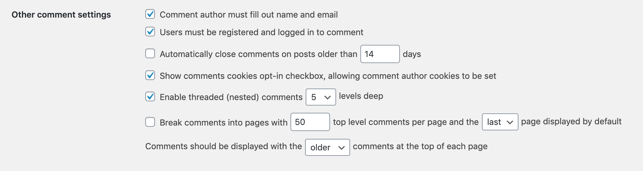 Restricting comments to logged in users in WordPress.
