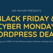 2019 Black Friday and Cyber Monday Deals for WordPress