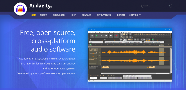 Audacity podcast recording and editing software