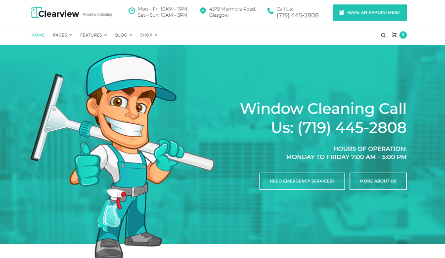 Clearview - Window Cleaning Services WordPress Theme