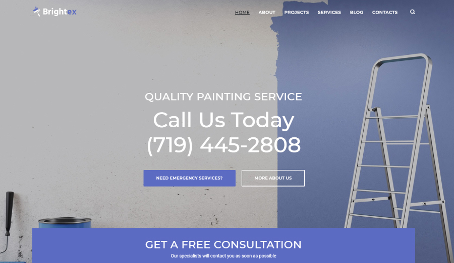 Brightex - Painting Services Multipurpose Classic Elementor WordPress Theme