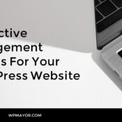 5 Effective Management Plugins For Your WordPress Website