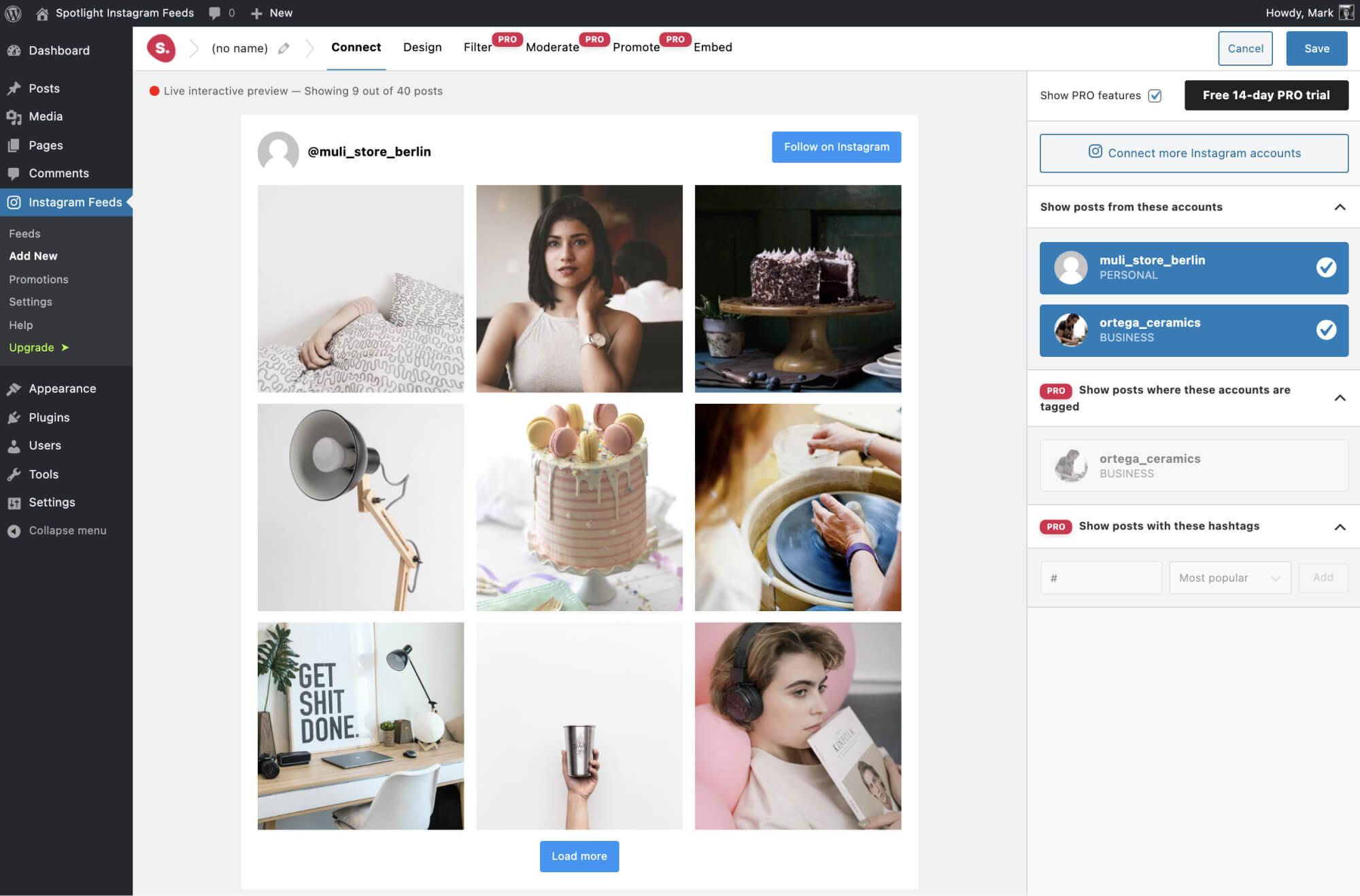 Spotlight Instagram Feeds - Connect Multiple Accounts