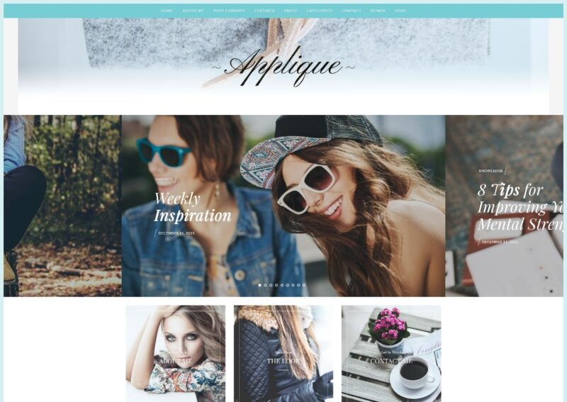 A fashion blog theme