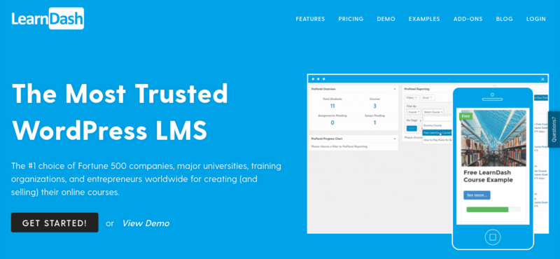 The LearnDash LMS plugin for WordPress website.