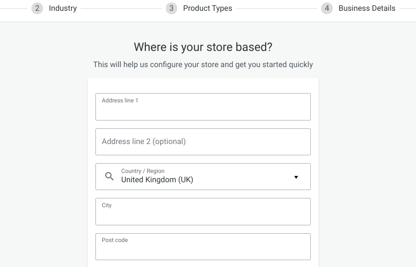 The WooCommerce plugin setup wizard.