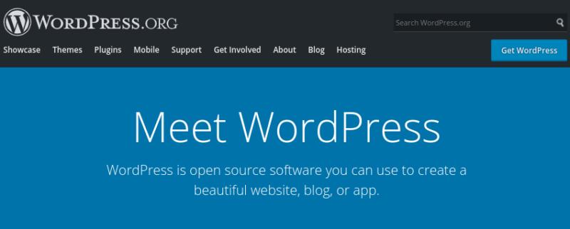 The WordPress.org website.