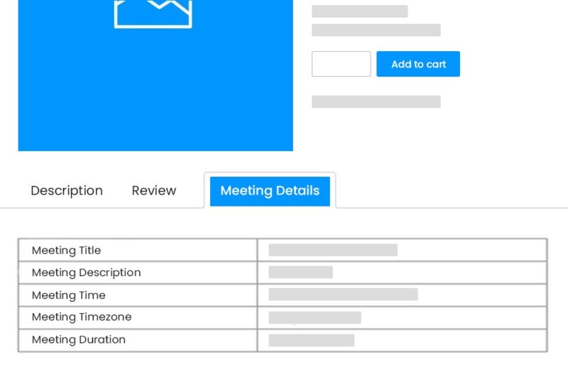 The Zoom meeting information page from the WP Event Manager Zoom plugin.