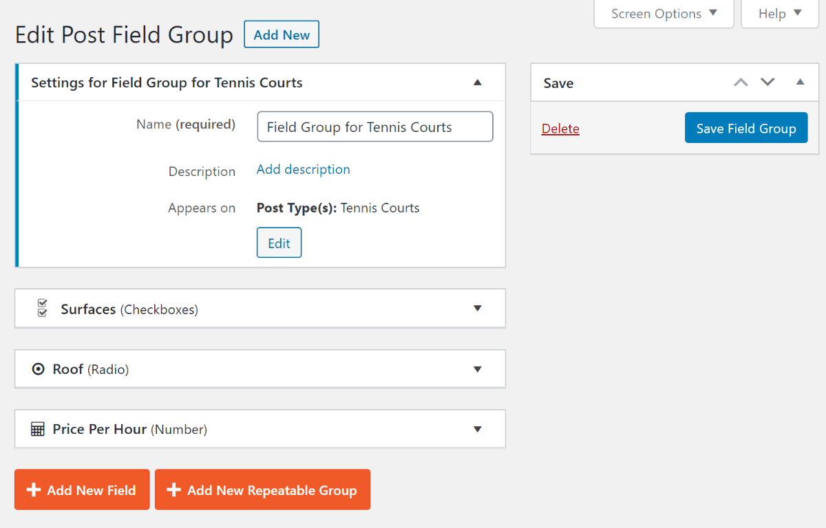 Custom fields examples