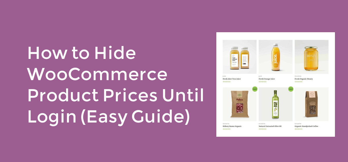 How to Hide WooCommerce Product Prices Until Login (Easy Guide)