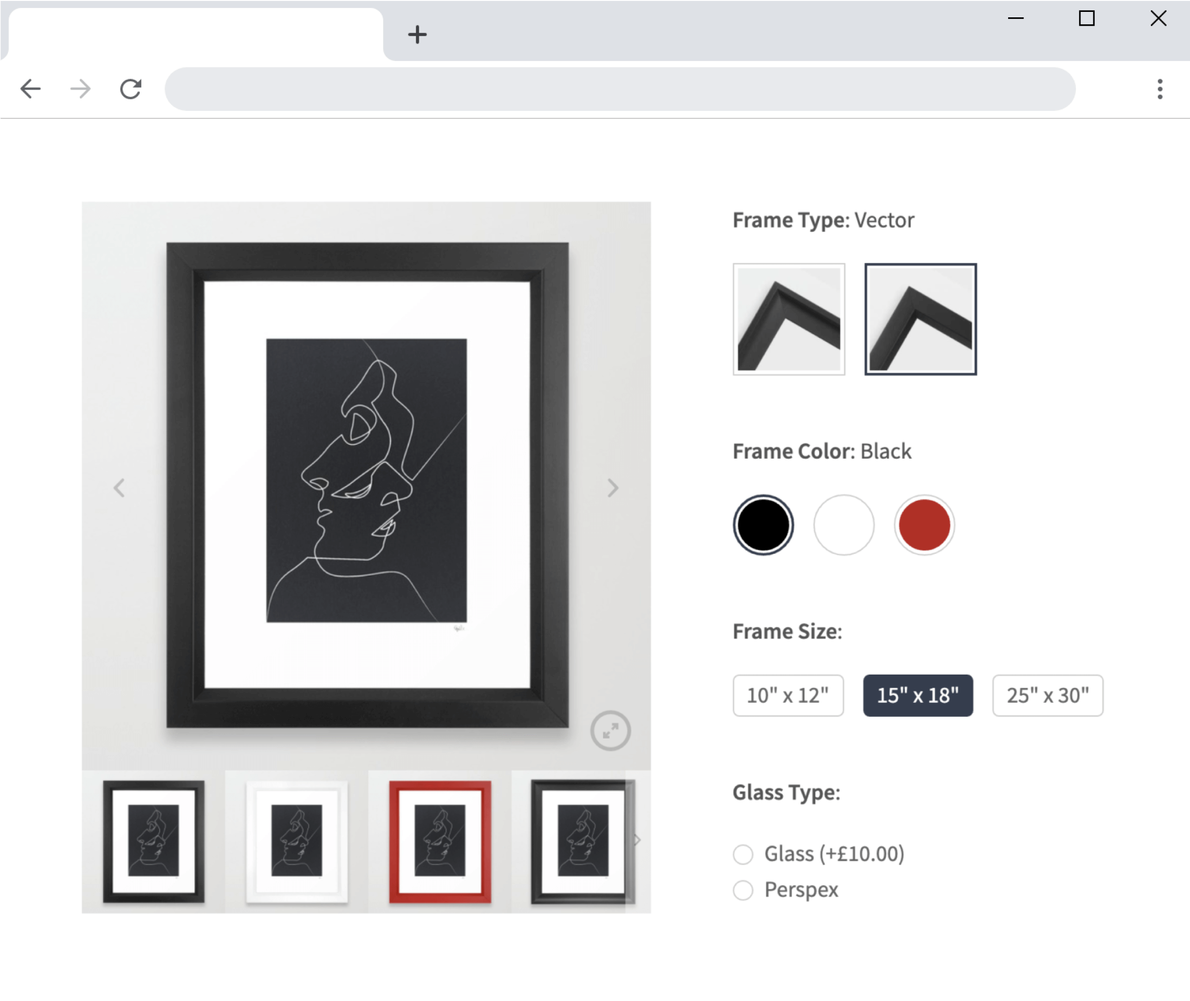 WooCommerce image and color swatches
