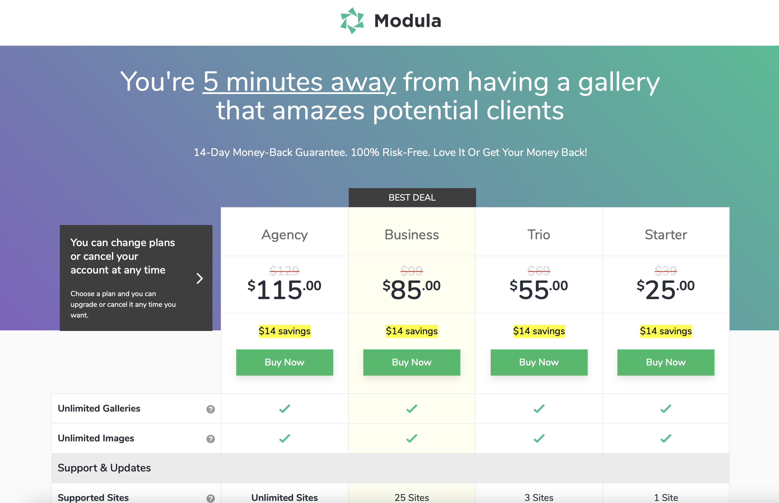 Modula pricing