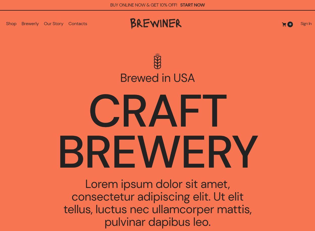 Craft brewery demo