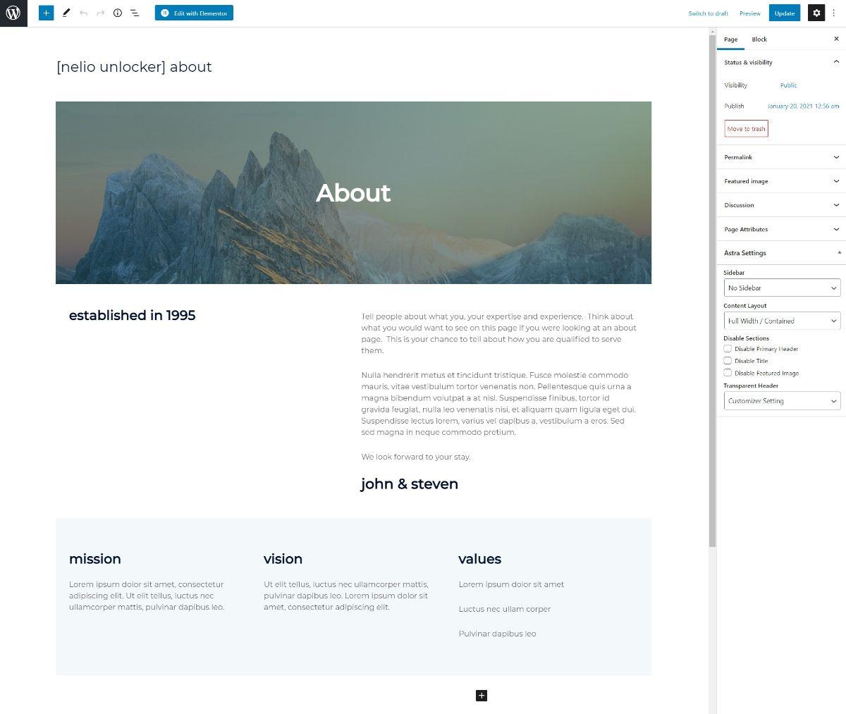 Nelio design in block editor