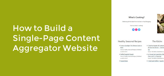 How to Build a Single-Page Content Aggregator Website