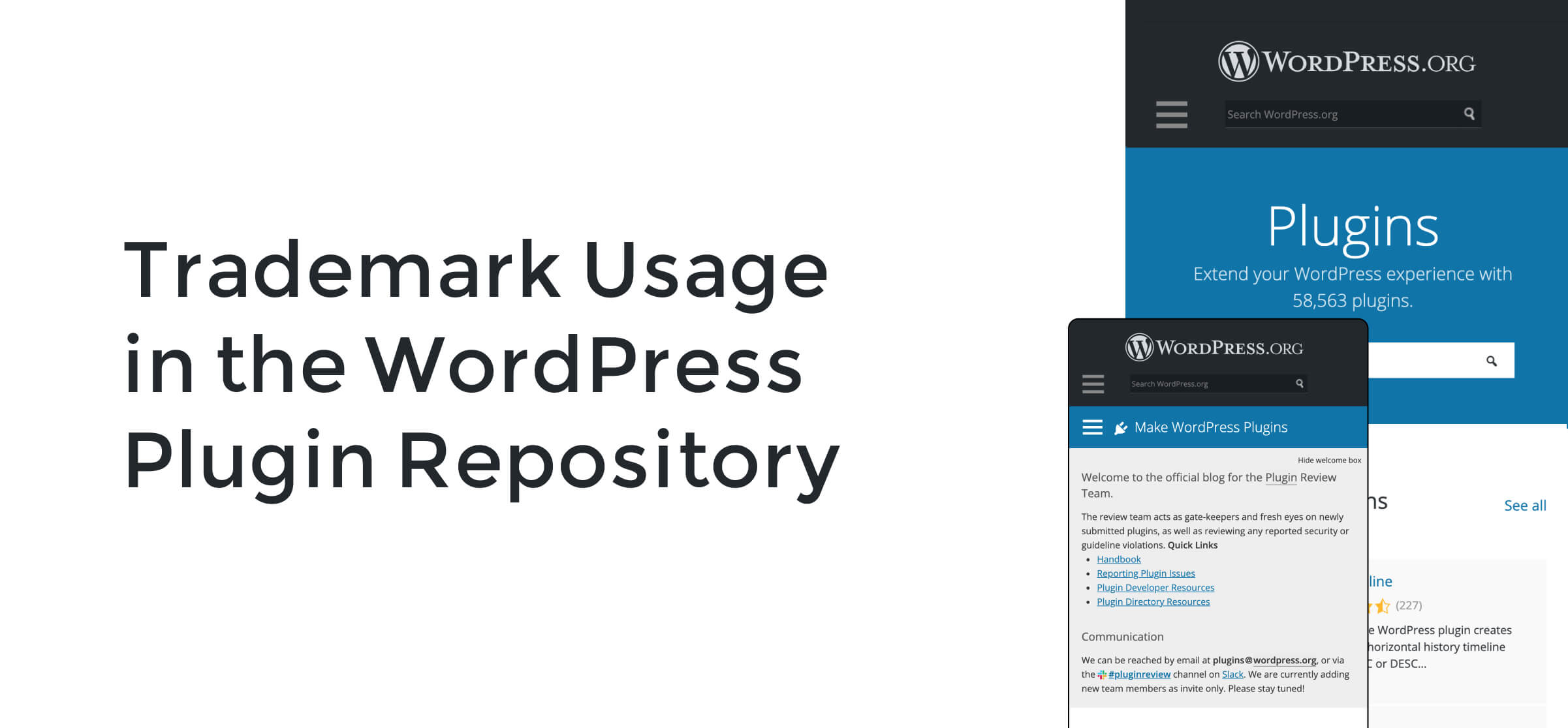 Trademark Usage in the WordPress Plugin Repository
