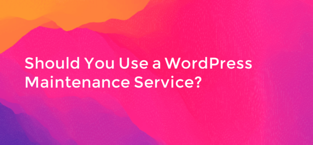 Should You Use a WordPress Maintenance Service
