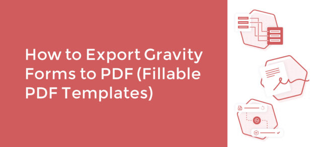 Export Gravity Forms to PDF