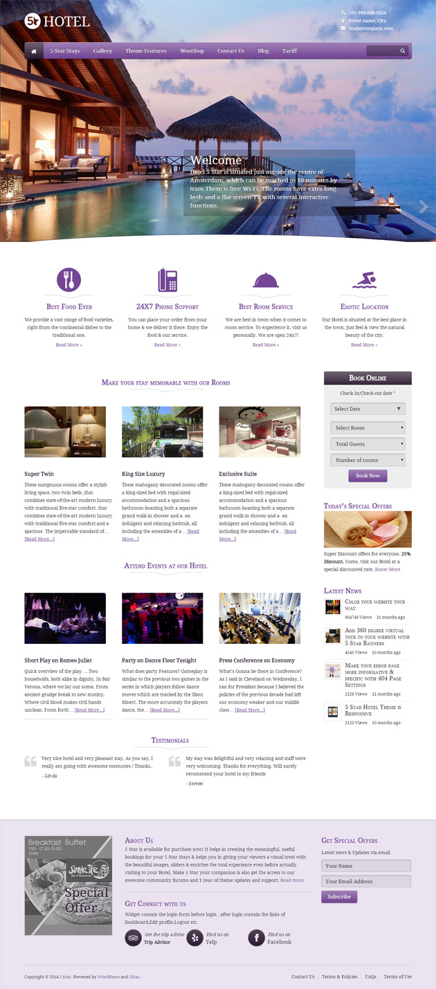 5 Star WordPress Theme
