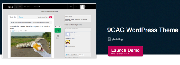 9GAG WordPress Theme   WPtit