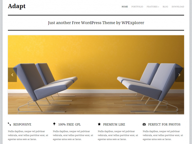 Adapt free wordpress theme