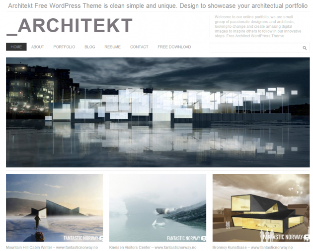 Architekt Theme Architect Theme WordPress Architecture