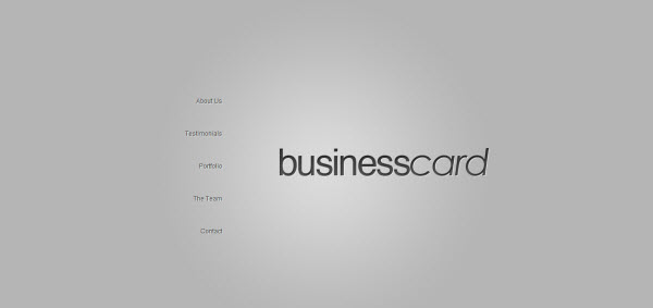 BusinessCard One Page WordPress Theme